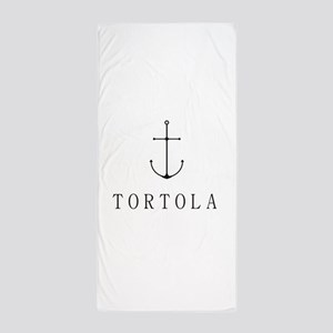 Tortola Sailing Anchor Beach Towel