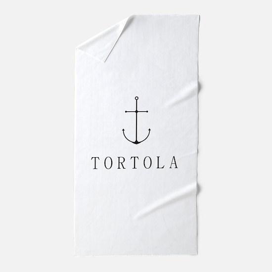 Tortola Sailing Anchor Beach Towel