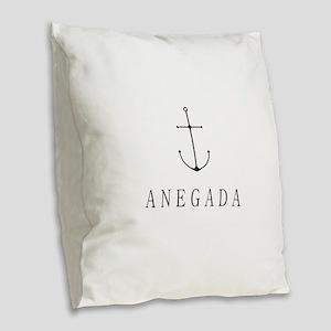Anegada Sailing Anchor Burlap Throw Pillow