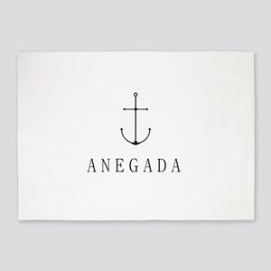 Anegada Sailing Anchor 5'x7'Area Rug