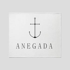 Anegada Sailing Anchor Throw Blanket