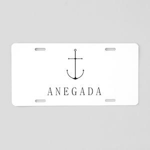 Anegada Sailing Anchor Aluminum License Plate