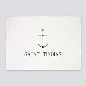 Saint Thomas Sailing Anchor 5'x7'Area Rug