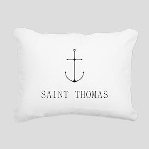 Saint Thomas Sailing Anchor Rectangular Canvas Pil