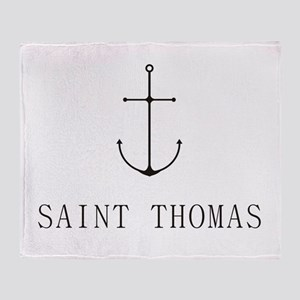 Saint Thomas Sailing Anchor Throw Blanket