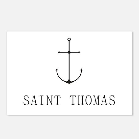 Saint Thomas Sailing Anchor Postcards (Package of