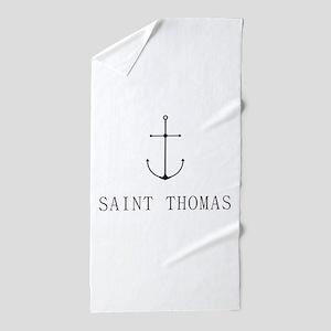 Saint Thomas Sailing Anchor Beach Towel