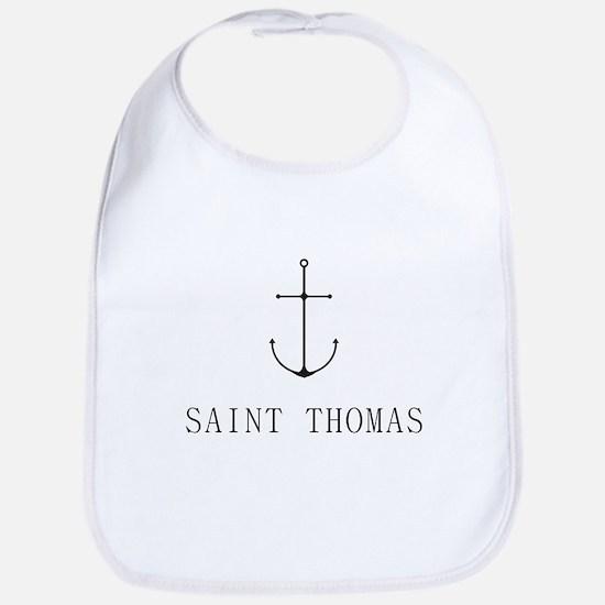 Saint Thomas Sailing Anchor Bib