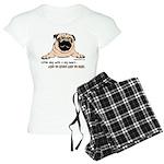 Pug little dog with a big heart pajamas