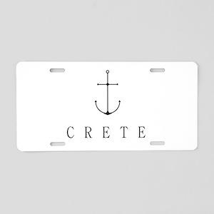 Crete Sailing Anchor Aluminum License Plate