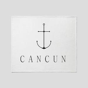 Cancun Sailing Anchor Throw Blanket