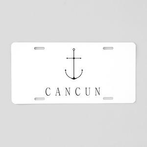 Cancun Sailing Anchor Aluminum License Plate
