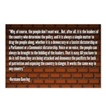 Hermann Goering Quote Postcards