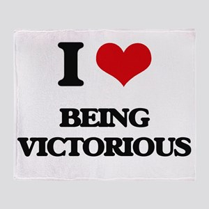 I love Being Victorious Throw Blanket