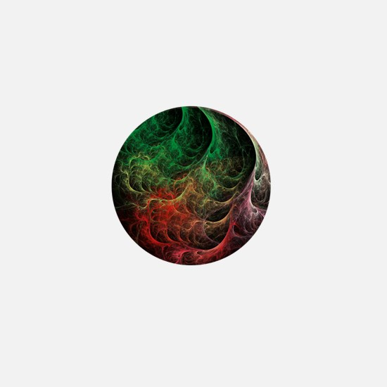Abstract Art Space Fire Mini Button