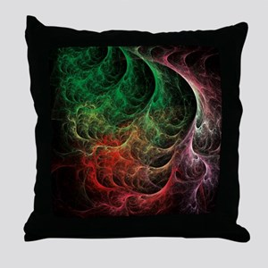 Abstract Art Space Fire Throw Pillow