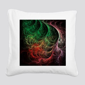 Abstract Art Space Fire Square Canvas Pillow