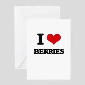 I Love Berries Greeting Cards