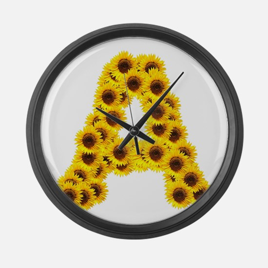 Funny Sunflowers Large Wall Clock