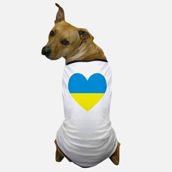Ukrainian Flag Heart Dog T-Shirt