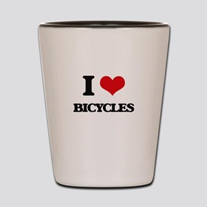 I Love Bicycles Shot Glass