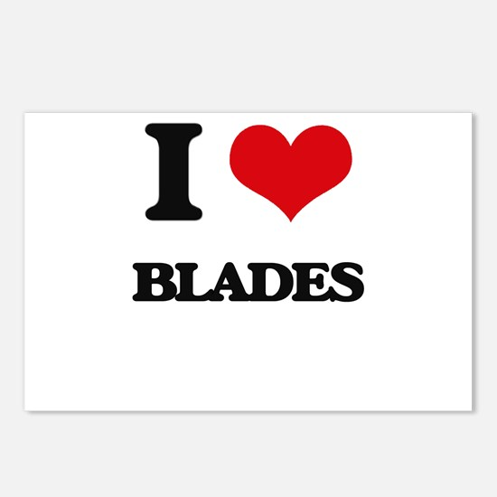 I Love Blades Postcards (Package of 8)