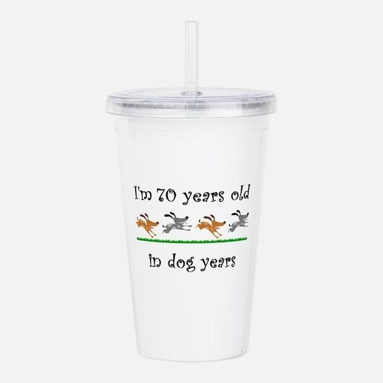10 dog birthday 1 Acrylic Double-wall Tumbler