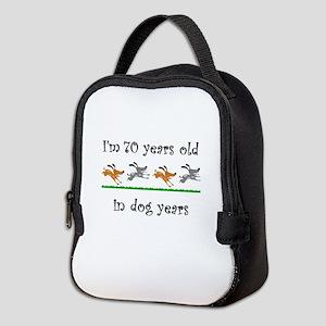 10 dog birthday 1 Neoprene Lunch Bag