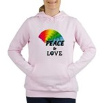 Rainbow Peace Love Women's Hooded Sweatshirt