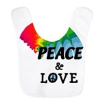 Rainbow Peace Love Bib