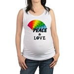 Rainbow Peace Love Maternity Tank Top