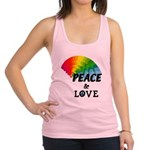 Rainbow Peace Love Racerback Tank Top