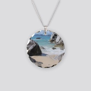 The Baths Necklace Circle Charm