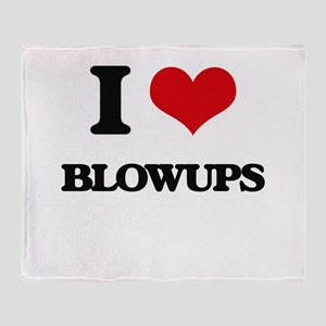 I Love Blowups Throw Blanket
