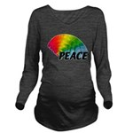 Rainbow Peace Long Sleeve Maternity T-Shirt