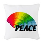 Rainbow Peace Woven Throw Pillow