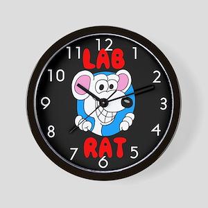Science Lab Rat Wall Clock
