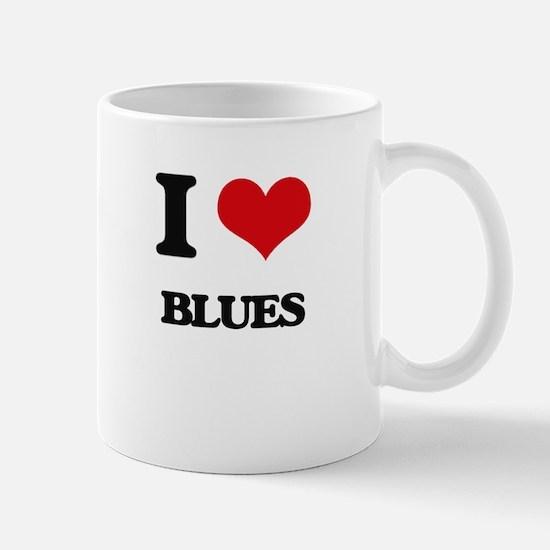 I Love Blues Mugs
