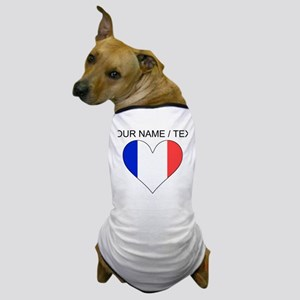 Custom France Flag Heart Dog T-Shirt