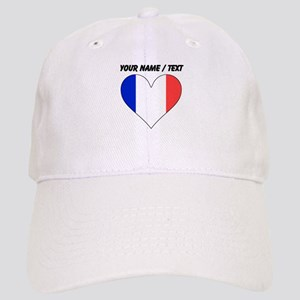 Custom France Flag Heart Baseball Cap