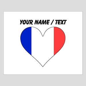 Custom France Flag Heart Posters