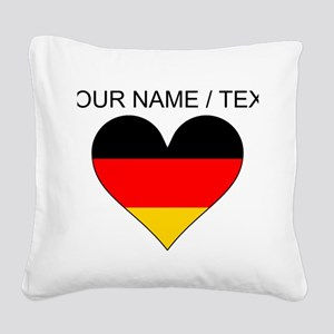 Custom Germany Flag Heart Square Canvas Pillow