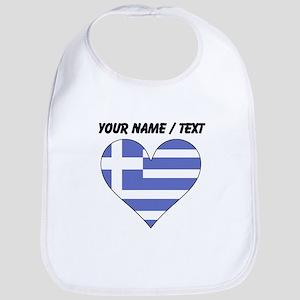 Custom Greece Flag Heart Bib