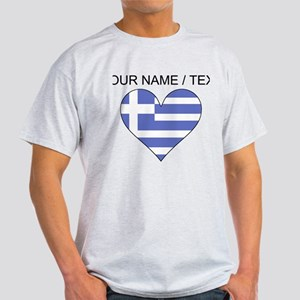 Custom Greece Flag Heart T-Shirt