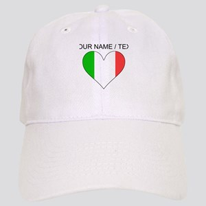 Custom Italy Flag Heart Baseball Cap
