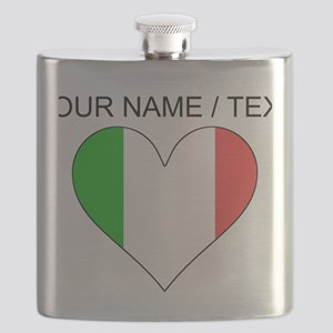 Custom Italy Flag Heart Flask