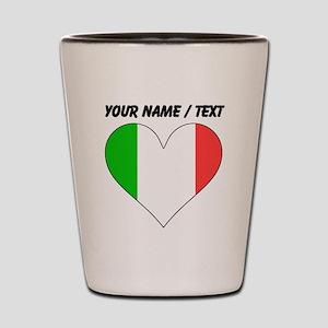 Custom Italy Flag Heart Shot Glass