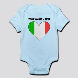 Custom Italy Flag Heart Body Suit
