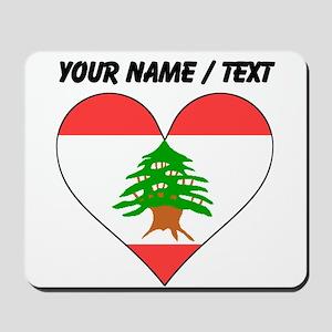 Custom Lebanon Flag Heart Mousepad