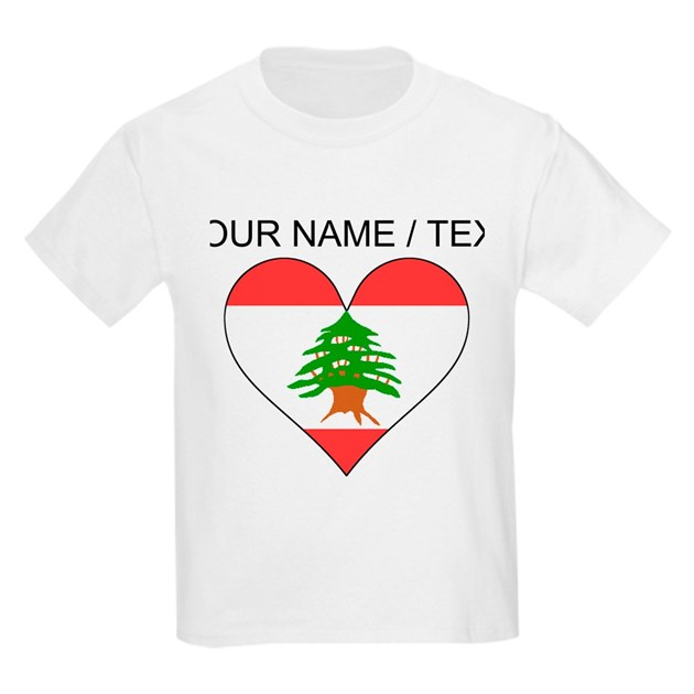 custom lebanon flag heart tshirt by worldwideflaggifts